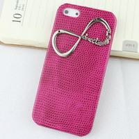 "Plum Purple Hard Case Cover With One Direction ""Directioner"" Infinity for Apple iPhone5 Case, iPhone 5 Cover,iPhone 5 Case, iPhone 5g"