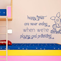 Winnie The Pooh Wall Decal Quote Piglet Vinyl Stickers Home Interior Design Birthday Gifts Baby Boy Bedroom Girl Kids Nursery Decor Art KI43