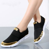 Cute Casual Flat Shoes-Black