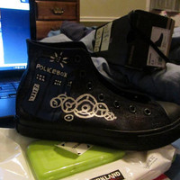 Custom Doctor Who shoes, Tardis, Dalek