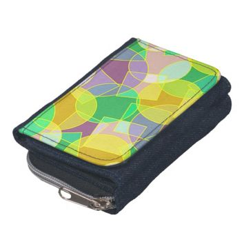 Stained glass geometric pattern wallet