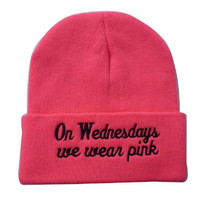 Hot Pink 'On Wednesdays We Wear Pink' Beanie