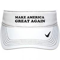 America Great Again Golf: Nike Golf Dri-Fit Swoosh Visor Hat OS White