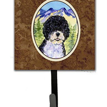Caroline's Treasures SS8303SH4 Portuguese Water Dog Leash Holder or Key Hook, Small, Multicolor