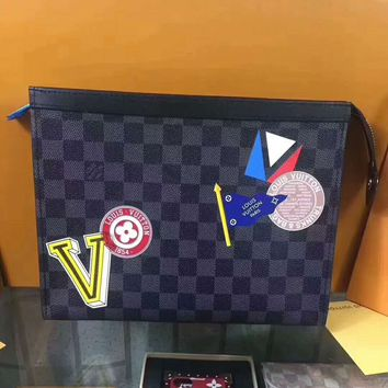 LV X Supreme Women Leather Zipper Wallet Purse G
