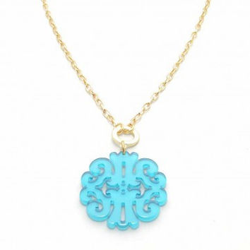 ZENZII Statement Scroll Pendant Necklace
