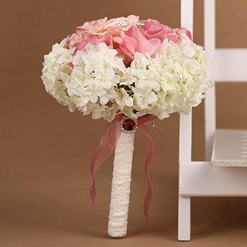 New Artificial Wedding Bouquets Crystal Bridal Bouquet Wedding Flowers Hydrangea Flower Bouquet