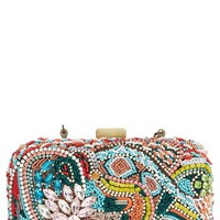 Women's Natasha Couture Beaded Clutch - Pink