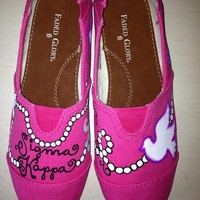 Sigma Kappa Sorority Painted Toms