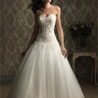 Ball Gown Sweetheart Neckline Beaded Tulle Wedding Dress  BWD003 -Shop offer 2012 wedding dresses,prom dresses,party dresses for girls on sale. #Category#