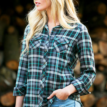 Plaid About You Top