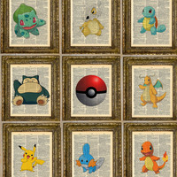 Pokemon (customizable) Dictionary Art Series