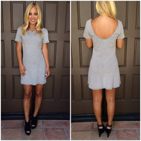 Fall In Line Herringbone Dress
