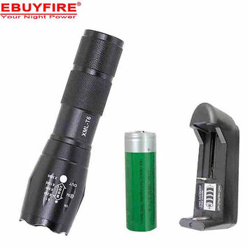 E17 LED Flashlight 18650 zoom torch waterproof flashlights XM-L T6 3800LM 5 mode led Zoomable light For 3x AAA  or 3.7v Battery