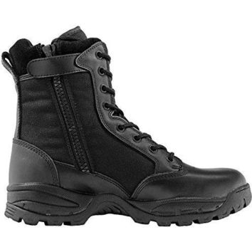 Maelstrom Women's TAC FORCE 8 Inch Military Tactical Duty Work Boot with Zipper, Black, 7.5 M US