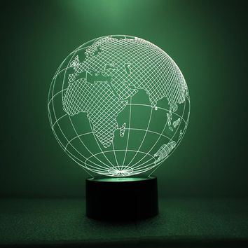 United States Globe Map 3D LED Night Light Lamp