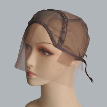 Lace Front Wig Cap For Customizing Wigs With Adjustable Strap Glueless Weaving Cap Wig Caps Size S/M/L