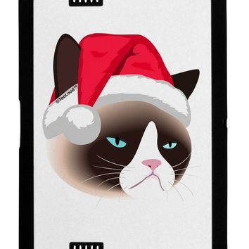 Santa Hat Disgruntled Siamese Cat Black Jazz Kindle Fire HD Cover by TooLoud