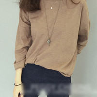 Long-Sleeve Round-Neck T-Shirt