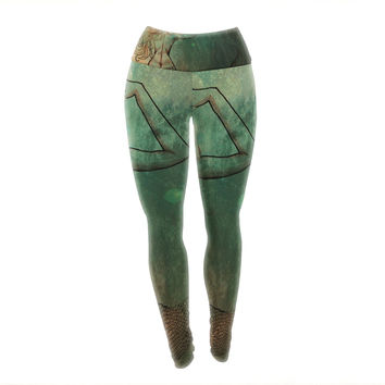 "Theresa Giolzetti ""Poor Mermaid"" Yoga Leggings"