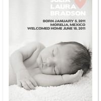 birth announcements - Simple Hearts at Minted.com