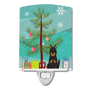 Merry Christmas Tree Beauce Shepherd Dog Ceramic Night Light BB4205CNL