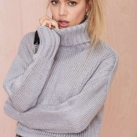 Telluride Turtleneck Crop Sweater