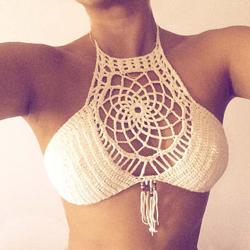 Dreamcather Halter Crochet top