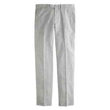 J.Crew Mens Bowery Slim Pant In Fine-Striped Linen