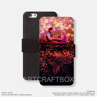 Tangled Lantern Disney iPhone Samsung Galaxy leather wallet case cover 792