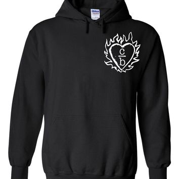 "One Tree Hill OTH ""Clothes Over Bros / C over B Heart Logo in Corner"" Hoodie Sweatshirt"