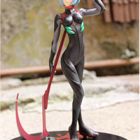 Evangelion Rei Ayanami Plugsuit figure with Sickle NERV toy stand statue kawaii gift idea birthday christmas