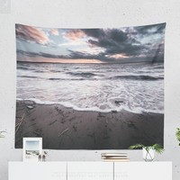 Sea Wall Tapestry With Magical Ocean Sunset Print, Beach Tapestry, Nautical, Sunset, Marine, Coastal, Wall Art, Wall Decor, Photography