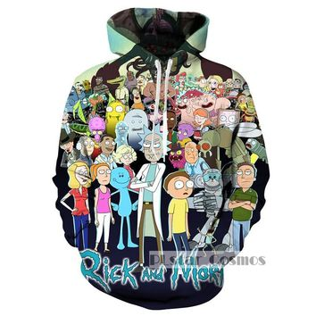 PLstar Cosmo Brand Hoodie Rick and Morty Hoodies Men Women Fashion Pullovers Hooded Tops Casual Sweatshirts size S-5XL Dropship