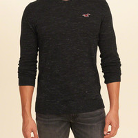 Guys Crewneck Icon Sweater | Guys 40% Off Winter Favorites | HollisterCo.com