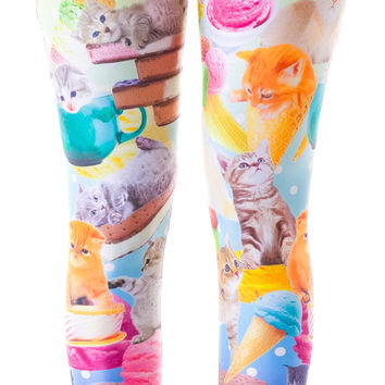Japan L.A. Kittens and Ice Cream Leggings Multi