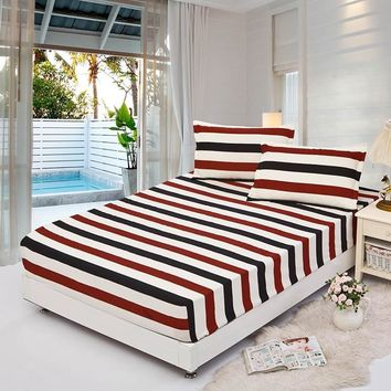 fitted sheet with elastic corners and 2 pillowcases set