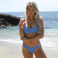Out On The Deck Bikini Set in Blue
