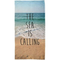 VONE05Y The Sea is Calling Beach All Over Beach Towel