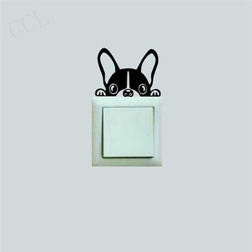 French BULLDOG Light Switch Sticker from France
