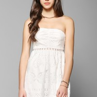 Pins And Needles Knit Lace-Inset Strapless Dress - Urban Outfitters