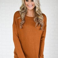 You Get My Love Top ~ Rust Orange