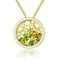 Dragonfly Cage Necklace (Yellow and Green)