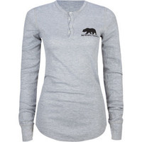 NOR CAL Black Bear Womens Henley Thermal 197958130 | Graphic Tees & Tanks | Tillys.com