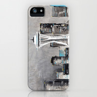 Cityscape (Seattle) iPhone & iPod Case by Beth Thompson