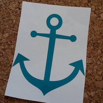 Anchor Decal | Anchor Monogram | Nautical Decal | Beach Decal | Boat Decal | Yeti Decal | Sea Decal