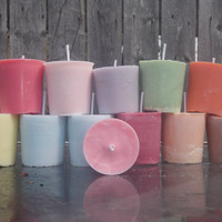 6 Soy votive candles in your choice of scent and color