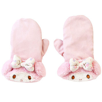 Buy My Melody Plush Fur Cuff Mittens with Jewel Eyes at ARTBOX