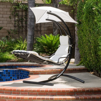 Hammock Style Hanging Chair with Canopy