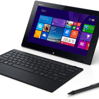 """Sony - VAIO 11.6"""" 2-in-1 Touch-Screen Laptop - Intel Pentium - 4GB Memory - 128GB Solid State Drive - Black - Every Deals!"""